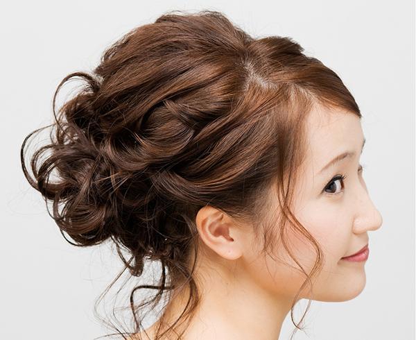 結婚式のための髪型☆可愛くアレンジできるヘアスタイル