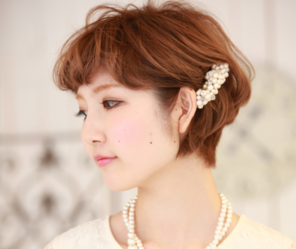 ショートヘアのアレンジ☆結婚式に合うお呼ばれスタイル
